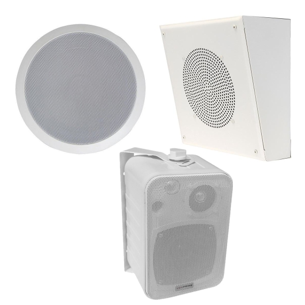 ceiling and surface mount paging speakers